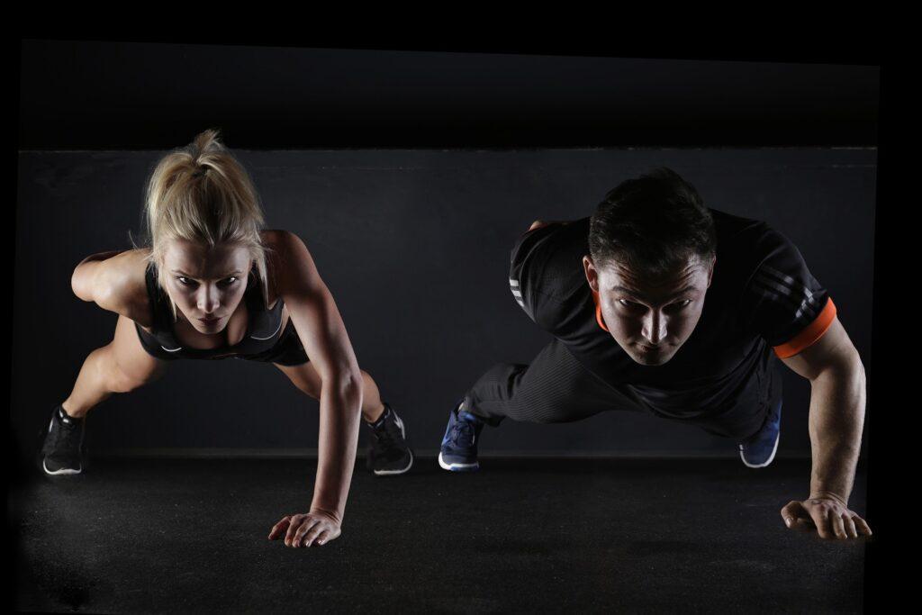 droog trainen voor mannen en vrouwen